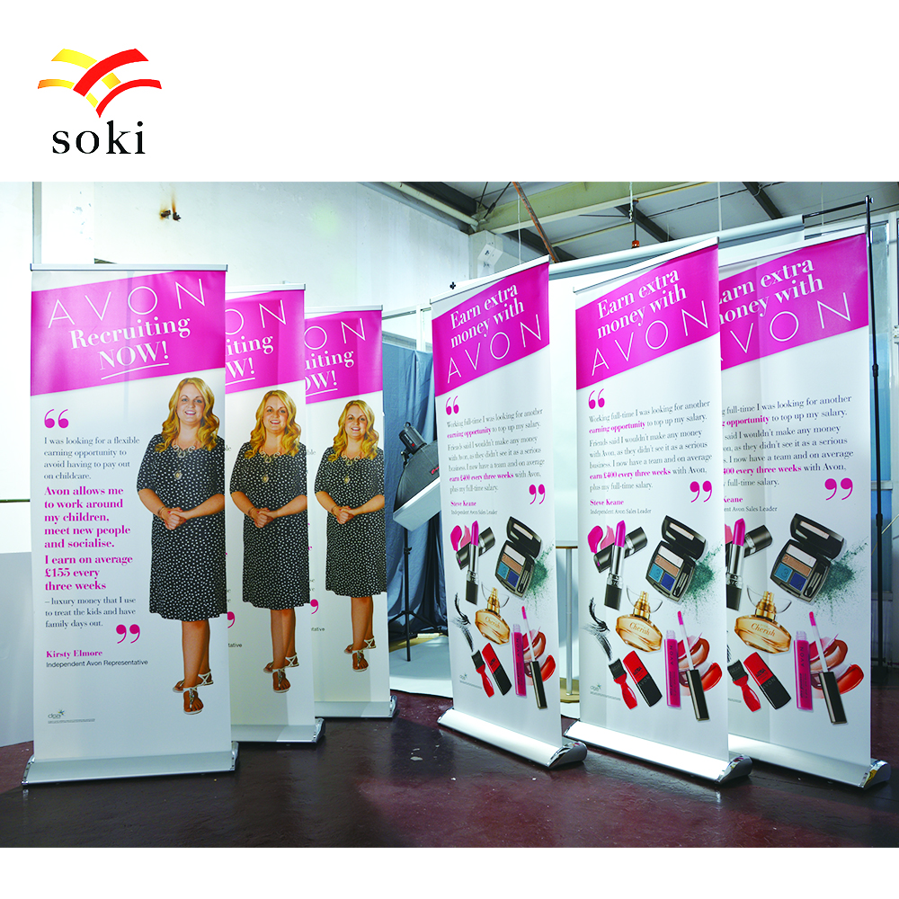 Exhibition Stand Roll Up : Cm luxury wide base teardrop aluminum roll up display stand