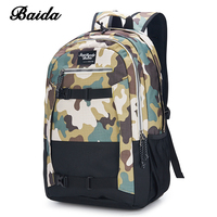 DAIDA Mens Casual Daypacks Men Cool Laptop Bag Canvas Backpack Camouflage School Bags For Teenager Boy