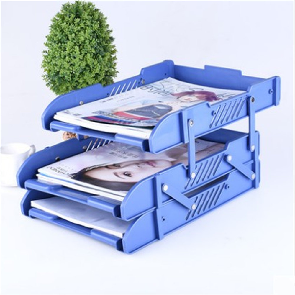 3 Layers Moving Document File Tray Holders Desk Set Book Holder Organizer A4 Office School Supplies Desk Accessories 1 set business file tray diy desktop magazine a4 file organizer document trays office supplies stationery random color