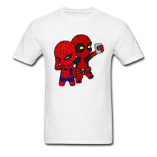 90 년대 만화 Deadpool T 셔츠 남성 Marvel Men's Funny 귀여운 그래픽 Tshirt 표백제 Anime Cosplay Tee Shirts For Student Best Gift(China)