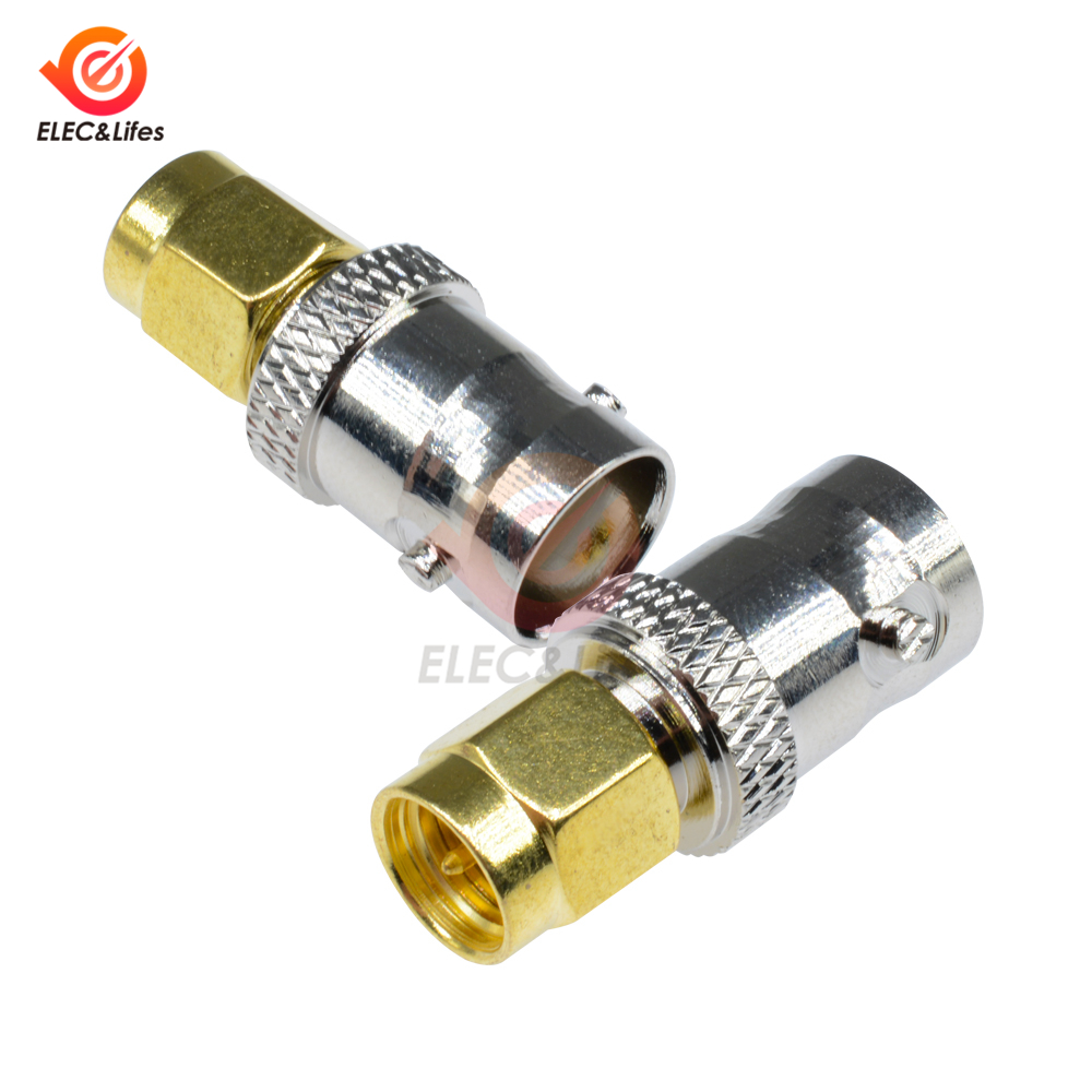 1pce Adapter BNC female jack to SMA male plug Gold plated straight RF COAXIAL
