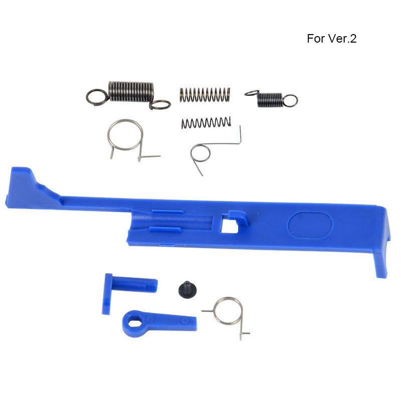 Tactique Plaque Poussoir Version.2.3/Gear Box Spring Set/Levier De Sécurité Commutateur/anti-renversement Loquet pour AEG Airsoft Ver.2.3 Boîte De Vitesses