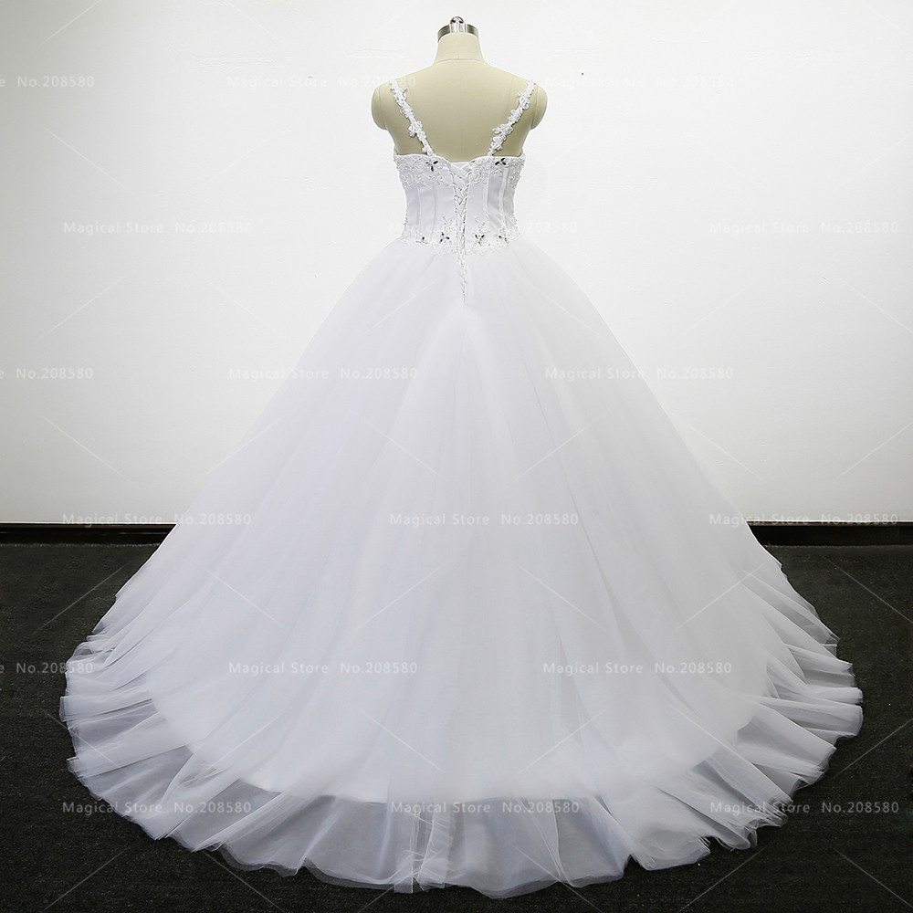 Halloween Wedding Gowns 2017 Bling Corset Ball Gown Crystal Arabic ...