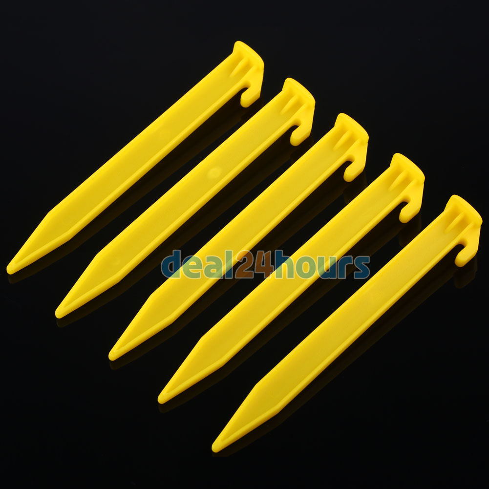 10x Plastic Sand Peg Tent Heavy Duty Camping Hiking Awning Ground Stake Hook Mm Other Camping & Hiking Outdoor Sports
