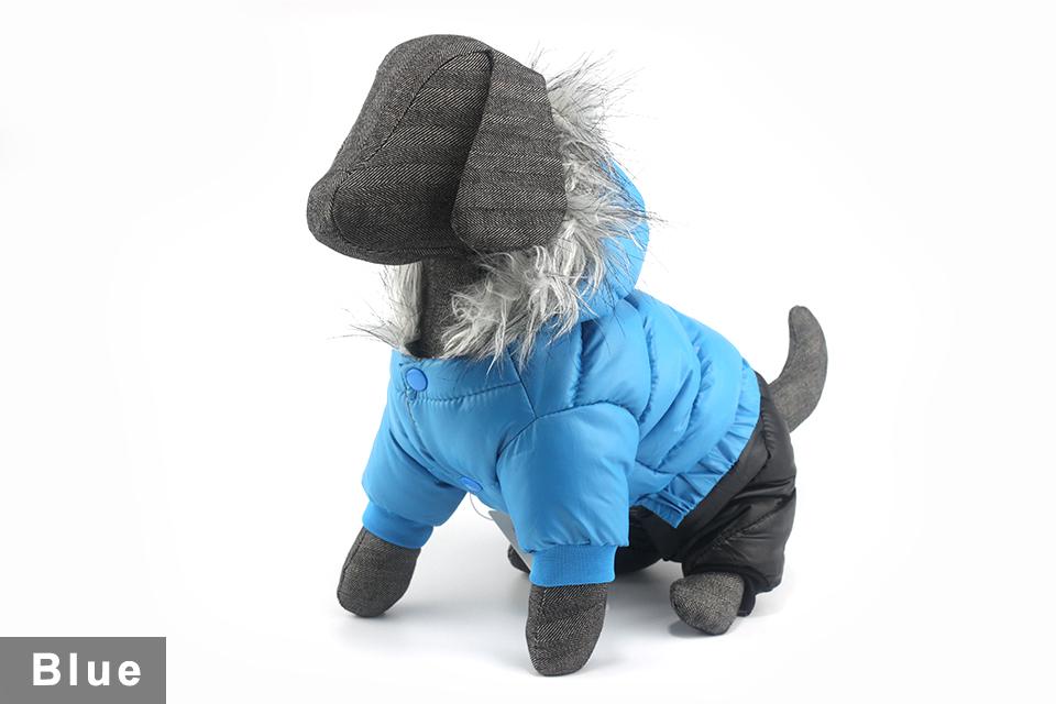 Chaqueta impermeable de invierno para perro 14