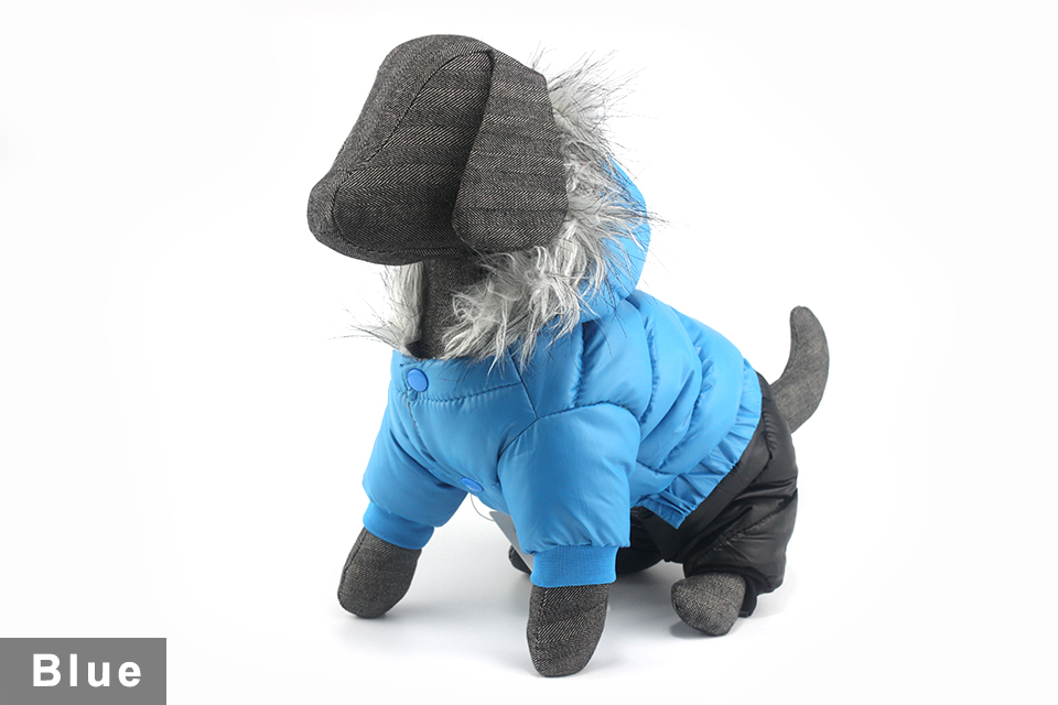 2017 NEW Design Winter Dog Clothes Winter Waterproof Pet Dog Coat Jacket Fashion Jumpsuit for Chihuahua Small Large Dogs PETASIA 410