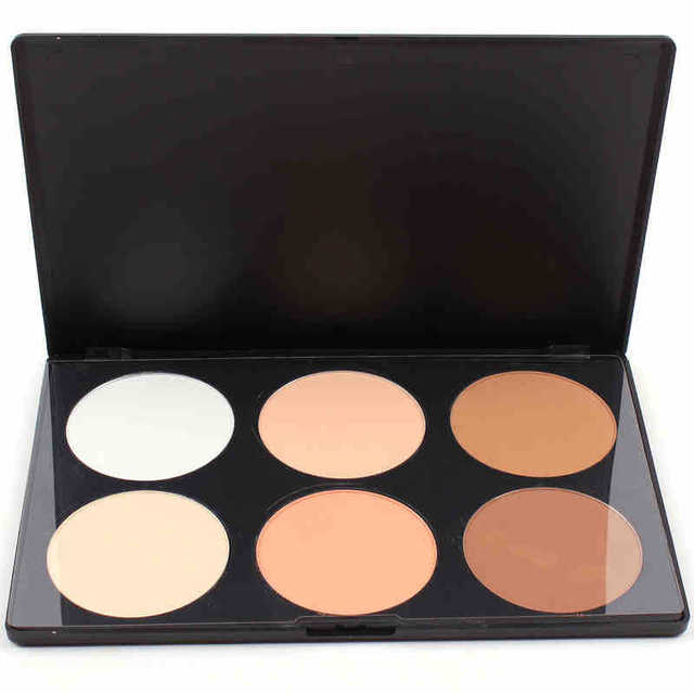 Free Shipping 6 Colors Contour Pressed Face Bronzing Powder Makeup Blush Palette Cosmetic