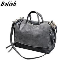 Bolish  New Arrive Women Shoulder Bag Nubuck Leather women handbag Vintage Messenger Bag Motorcycle Crossbody Bags Women Bag