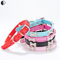 Puppy Necklace  Small dog Collar Bone Charm Pu Leather Collar for dogs  Bib Pet Harness Leash Chihuahua Little Pet shop HP651