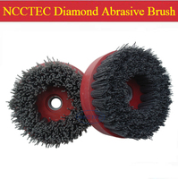 4'' Diamond abrasive brush FREE shipping | 100mm renovation grinding brush for granite marble | thread M10 M14 M16 5/8 11