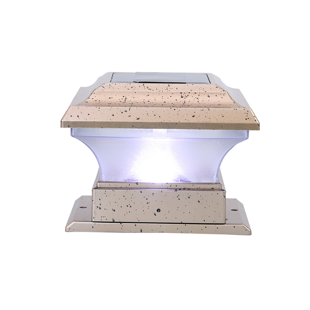 New Solar Powered Lamp LED Garden Light Waterproof Outdoor Pillar LED Solar Lights Lamp Court yard Fence Decoration Lamp White