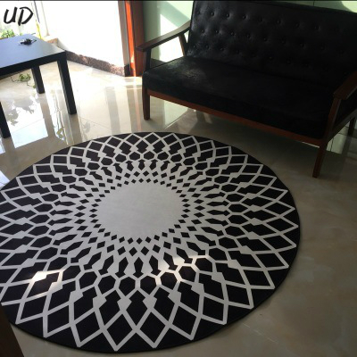 3d High Quality Acrylic Large Round Floor Mats Carpet
