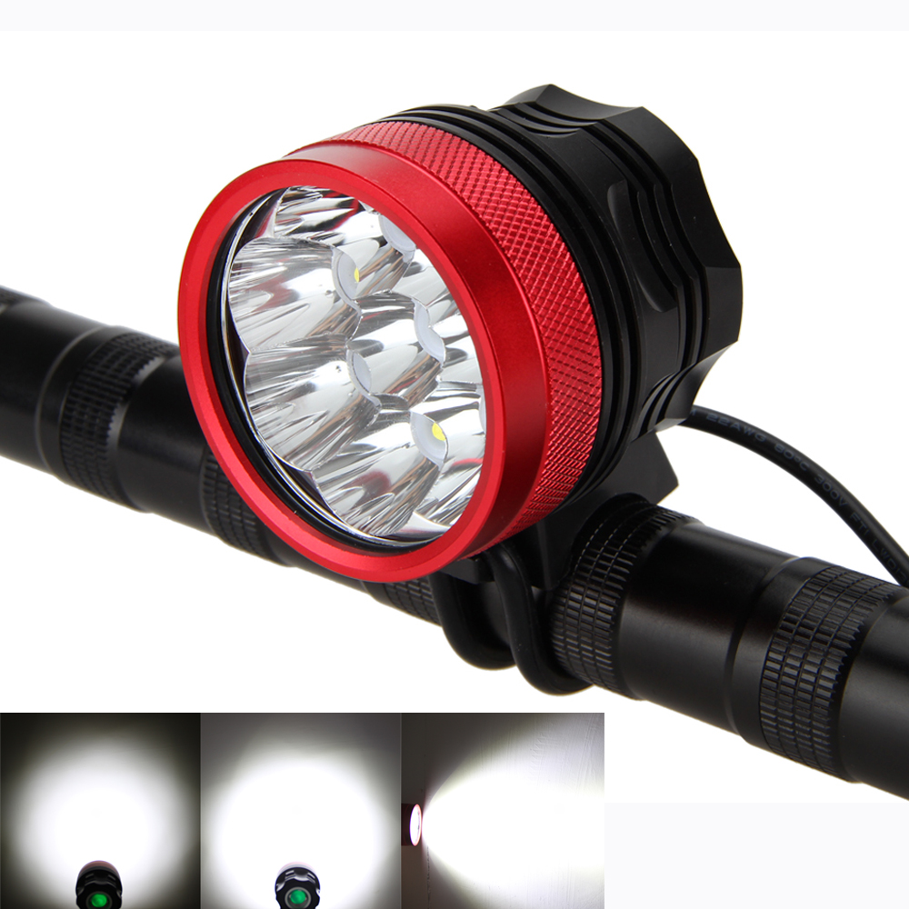 Waterproof 12000LM 8X XM-L R8 LED Cycling Head Front Bicycle Light bike Light Headlamp Only Lamp cycling 9000lm 6x xm l t6 led head front bicycle light bike lamp headlamp torch