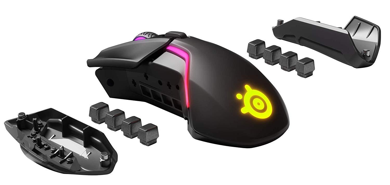 Steelseries Rival 600 Mouse Da Gioco TrueMove3 + Dual Sensore Ottico RGB weightable professionale FPS mouse - 5