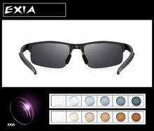 Eyewear Photochromic Gray Brown HMC Anti-Reflective Coatings MR-Eight 1.61 Index Males Vogue Solar Glasses EXIA OPTICAL KD-24 Sequence