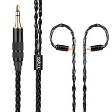 Yinyoo 8 Core Silver Plated Black Cable 2.5/3.5/4.4mm Balanced Cable With MMCX/2pin Connector For LZ A5 KZ ZS10 AS10 BA10 ED16(China)