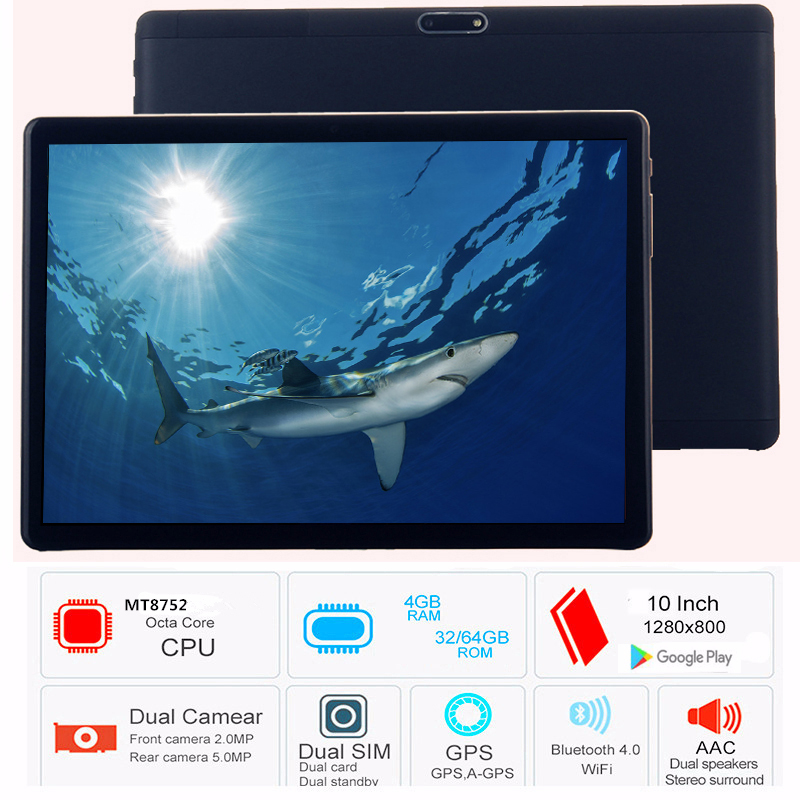 2019 Android 5.1 Tablet Computer 10.1 Inch 3G Phone Tablet PC 8 Octa Core RAM 4GB ROM 32GB 64GB Tablets 10 Kids Tablet FM GPS