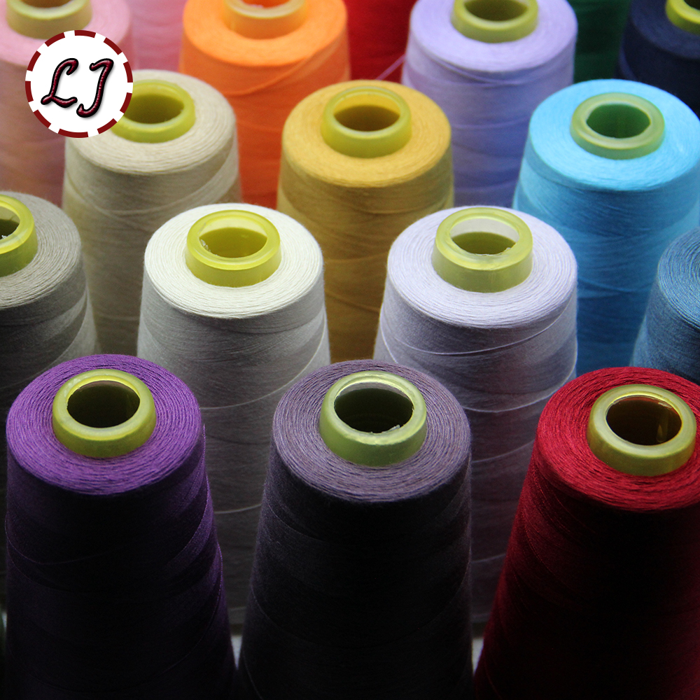 Free Shipping Brand Wholesale High Quality 3000yd/pcs 29colors Spool Cotton Thread For Family Sewing Accessories GJ026