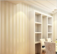 New Simple 3d non-woven fabric stripe of wallpaper The sitting room the bedroom TV setting wall stickers waterproof seamless