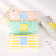 1x kawaii Candy colors pen bag pencil big capacity  stationery cute Pencil case School Supplies