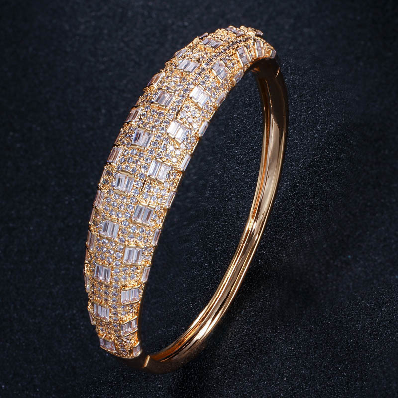 Haute qualité rose or zircon bracelet pour les femmes - 6
