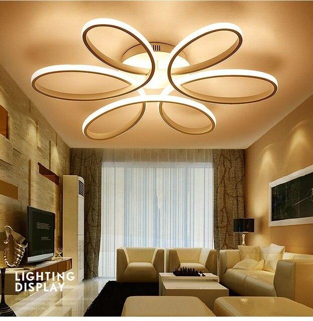 New White Led Modern Chandeliers Lamparas Lamp for Bedroom Living ...