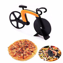 Bicycle Pizza Cutter Wheel Stainless Steel Plastic Bike Roller Chopper Slicer Kitchen Gadget E2S