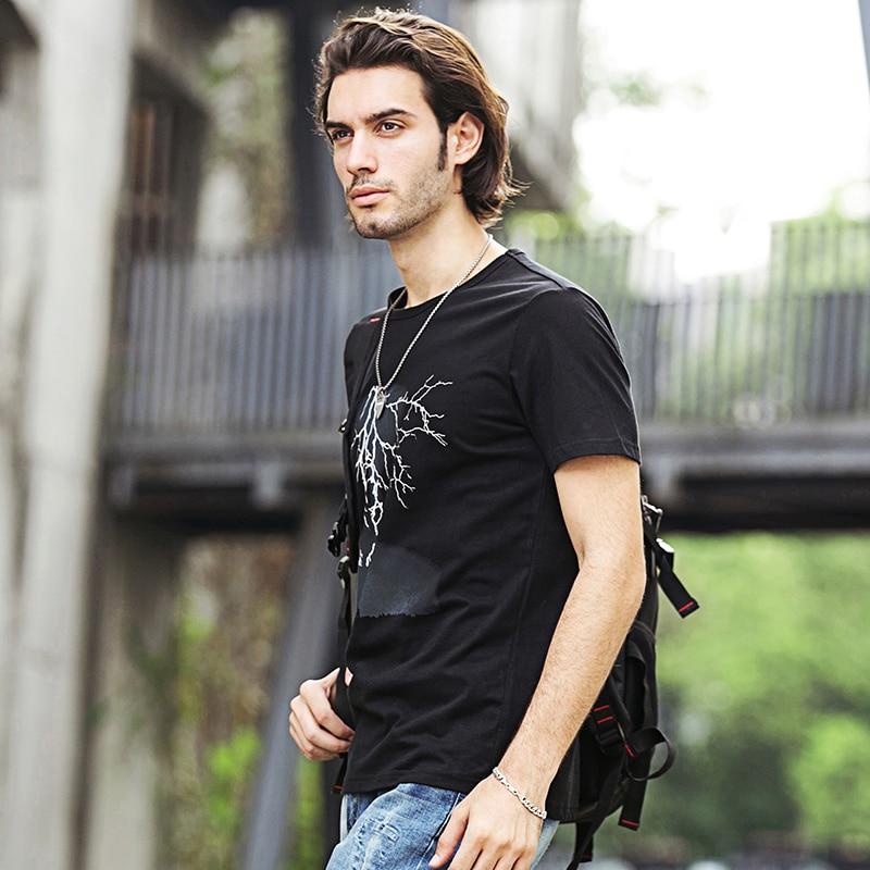 Pioneer Camp Lightning Printed T-Shirt Männer Schwarz T-shirt - Herrenbekleidung - Foto 4