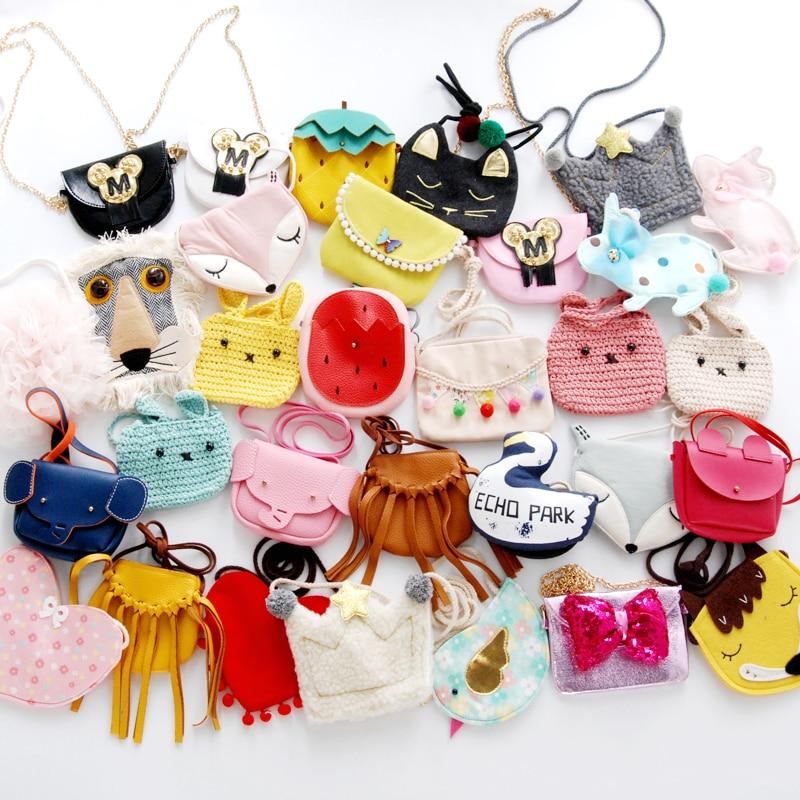 Monsisy Christmas Cartoon Kid Bag Purse and Handbag For Girl Shoulder Bag 40 Styles Animal/ Fox/Bird/Elephant Lolita Baby Bag все цены