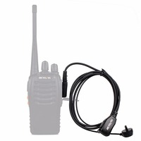 5r bf 10pcs Retevis PTT MIC ב-האוזן אוזניות אפרכסת מכשיר הקשר עבור KENWOOD Baofeng UV-5R BF-888s Retevis H777 HYT C9003A (5)
