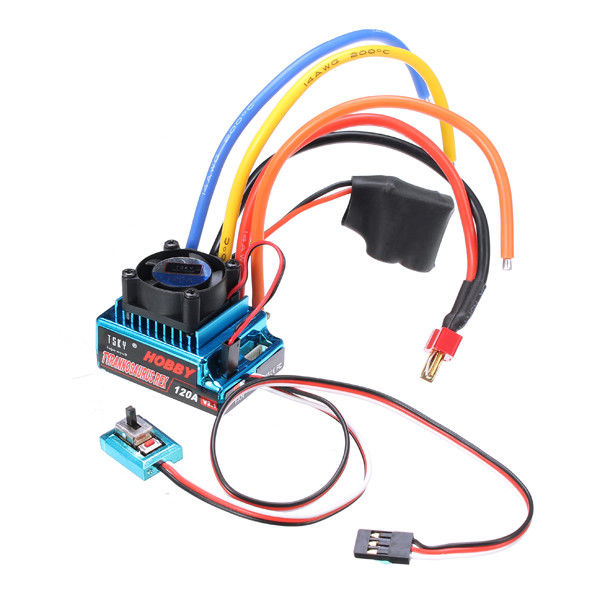TSKY Tyrannosaurus Rex 120A ESC (V2.1) For 1/10 1/8 RC Car Competition HobbyWing Xerun 120A V2.1