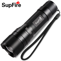 Supfire F3 L2 CREE XML2 T6 Led Flashlight 10w 1100 lumens Tactical Flashlight for Self Defense by 18650 Battery
