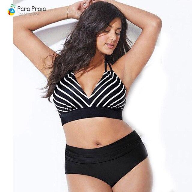 L-5XL Plus Size Swimwear Large Size Women 2019 Push up Bikini Set High waisted Swimsuits Women bathing Suit Halter Swim Wear