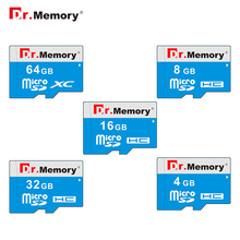 Dr.memory Micro SD 4GB 8GB Class 6 TF card 16GB 32GB SD card free shipping 64gb Memory stick blue flash disk micro sd card