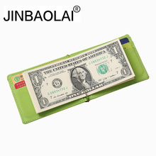 JINBAOLAI New Mens Wallet Money Clip High Quality Stainless Steel Money Clips Ultra-Thin Credit Card Clip Metal Money Holder