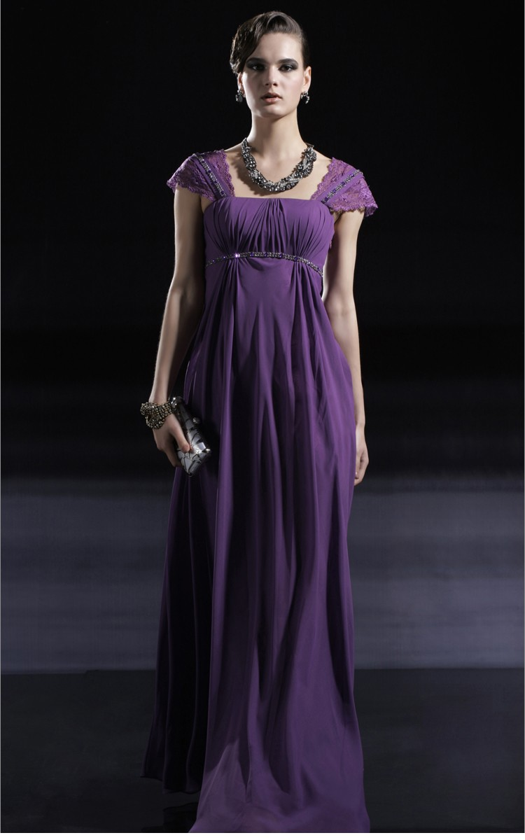 Vistoso Vestidos De Dama De Maternidad Púrpura Friso - Vestido de ...