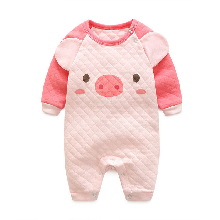 Spring Baby Romper Long Sleeves Baby Girl Pig Clothes Cartoon Newborn Boys Clothing Costume Cotton Overalls For Children