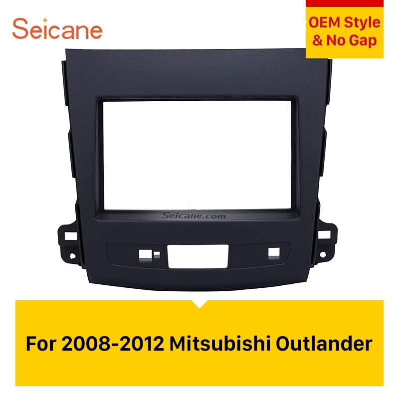 Seicane 2Din Car Radio Fascia Auto Stereo Interface Panel Dash Mount Frame Kit For 2008,2009,2010,2011,2012 Mitsubishi Outlander