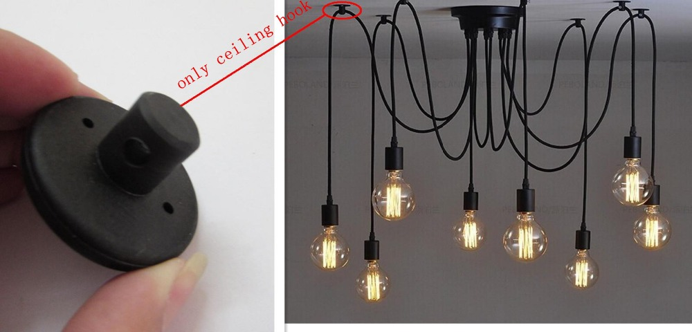 10pcs Lot Edison Chandelier Lamp Lighting Parts Pendant Ceiling Mounted Hanging Hook Accessories Free Shipping In Connectors From Home