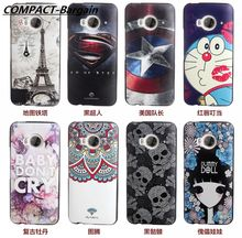 FREESHIP For HTC ONE ME Case High Quality 3D Stereo Relief Painting Back Slim Silicon Protector