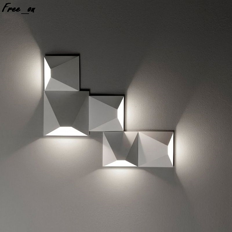 LED Wall-Mounted Lamp Wall Light Square Creative Illumination Modern Decor For Bedside Living Room Corridor Hotel Bathroom