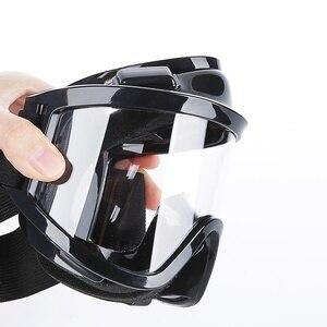 Image 5 - نصف وجه قناع واقي من الغاز مع مكافحة الضباب نظارات N95 الكيميائية الغبار قناع تصفية التنفس التنفس للرسم رذاذ لحام