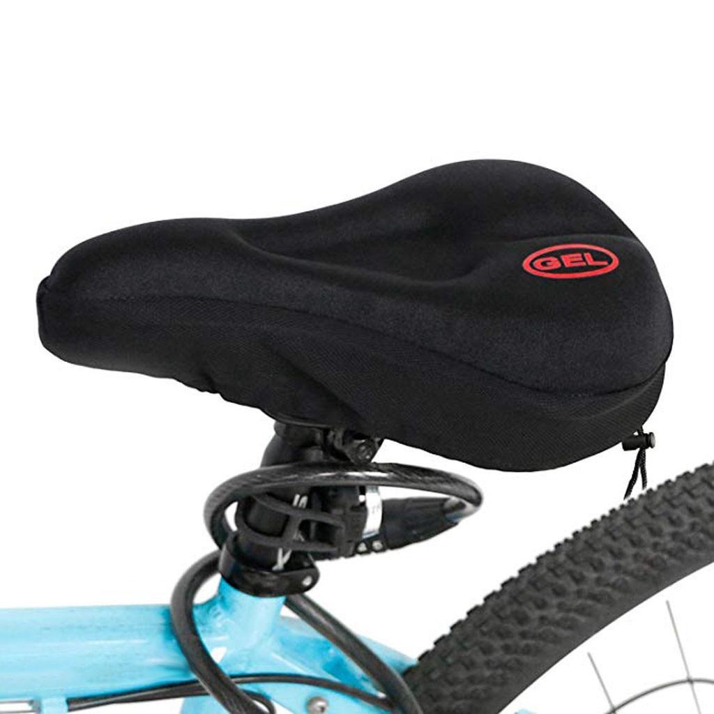 3D Soft Silicone Seat Padding Bike Bicycle Gel Cushion Saddle Cover Comfort Pad