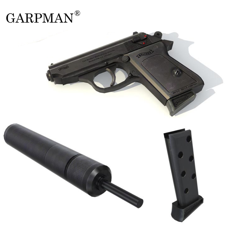 1:1 007 PPK Gun Paper Model Weapons Firearms 3D Stereo Handmade Drawings Military Papercrafts Toy