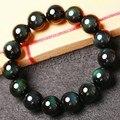 Новинка натуральный черный обсидиан браслет ювелирные изделия из натурального камня бусины круглый браслет для мужчин и женщин святого валентина подарок