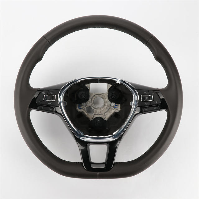 1pc Light Brown Multifunction Steering Wheel With Trim For Vw Jetta Mk6 5td 419 091 D Ljq