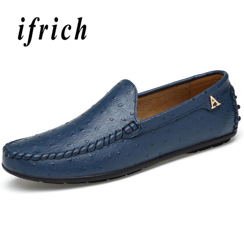 De Azul blue Jovens Sapatos Luz Moda Preguiçosos Casuais Confortáveis brown Mens Caminhada Homens Juventude Marrom Motorista Black Masculinos Peso rESIqS
