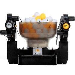 100 V-240 V профессиональная машина для игры в настольный теннис с двумя головками, робот для пинг-понга, автоматическая машина для стрельбы, S-1001