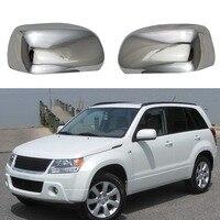 Cubiertas de espejo retrovisor de puerta cromado ABS de alta calidad para Suzuki Grand Vitara JT 2008 2014 Espejo y coberturas     -