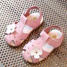 sandales enfants Fille Bébé Enfant En Bas Âge Chaussures D'été En Cuir Souple chaussures pour enfants Mignon Fleurs